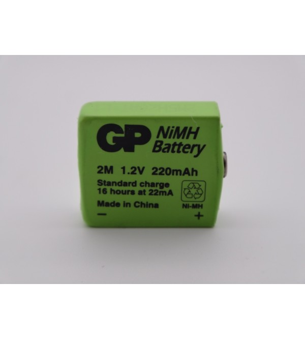 GP 2M, 1.2V, 220m, Ni-Mh, acumulator prismatic