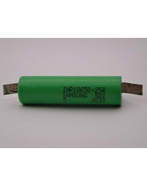 Acumulator Samsung Li-Ion 3.6V 2500mAh MR18650 curent descarcare 20A pentru bormasina electrica