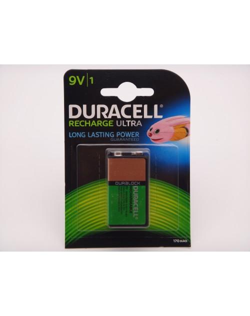Duracell acumulator 9V 170mAh, 6HR61 Ni-Mh BLISTER 1