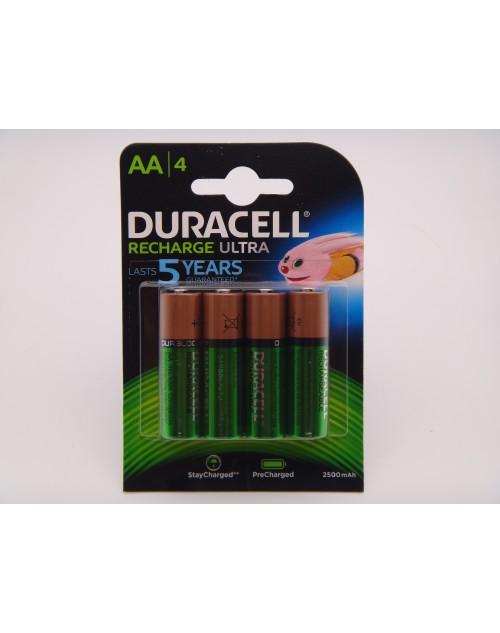 Acumulator Duracell 2500mAh HR6 AA 1.2V blister 4 Ni-Mh