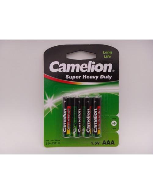 Camelion R03 AAA baterie super heavy duty 1.5V blister 4