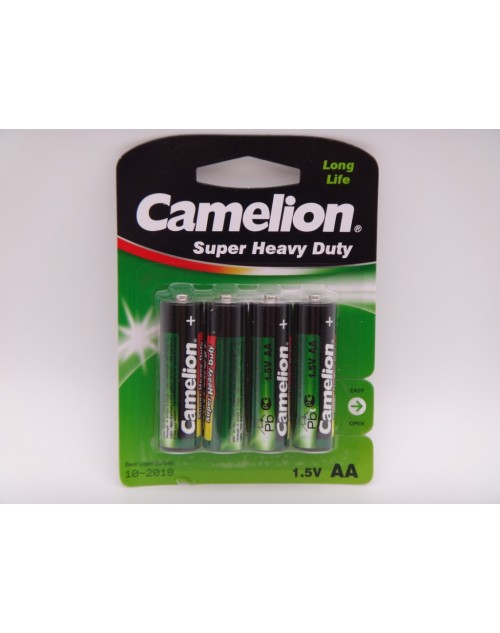 Camelion R6P AA baterie super heavy duty 1.5V blister 4