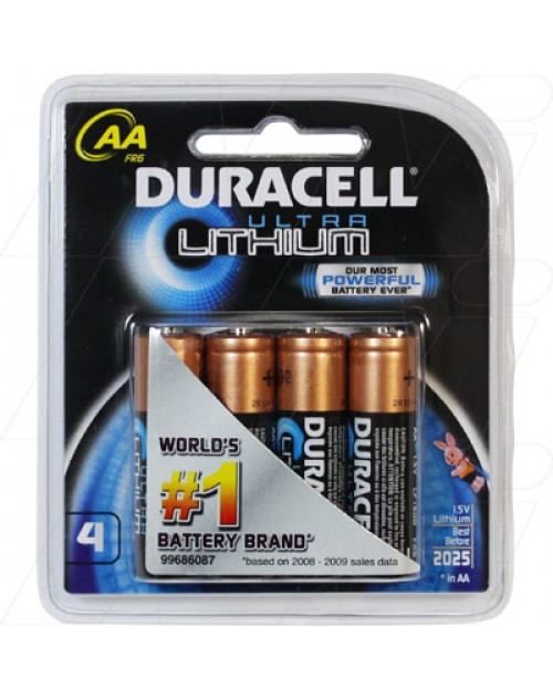 Baterie Duracell R6 AA Ultra Lithium FR6 LF1500, blister 4