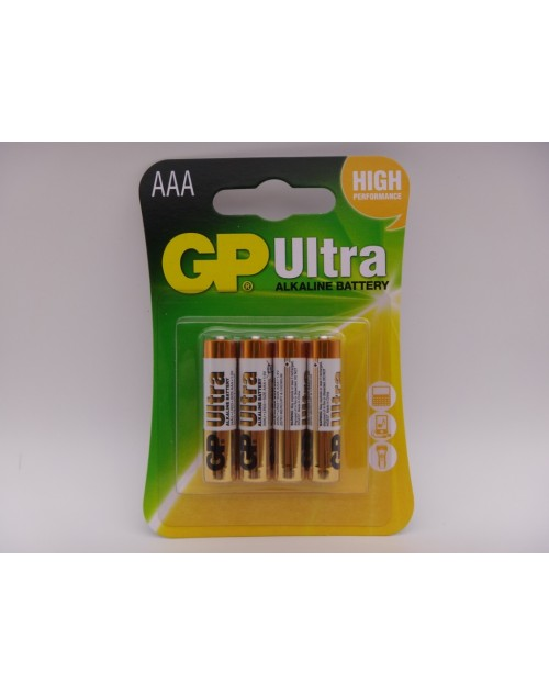 GP AAA LR03 24AU baterie ultra alcalina 1.5V blister 4 GP Batteries