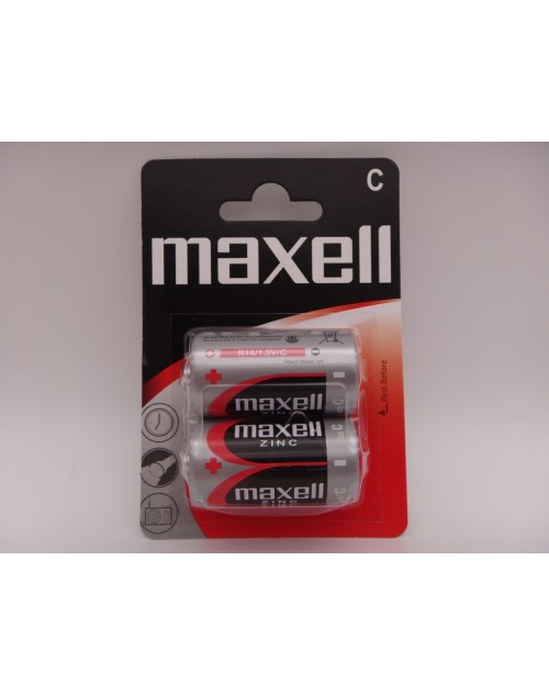 Maxell R14 C zinc carbon 1.5V MN1400 blister 2