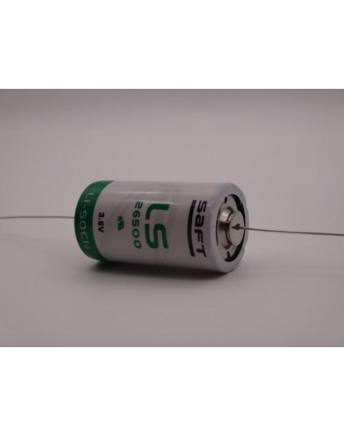 SAFT LS26500CNA baterie litiu 3.6V 7700mAh R14 C conexiuni fire