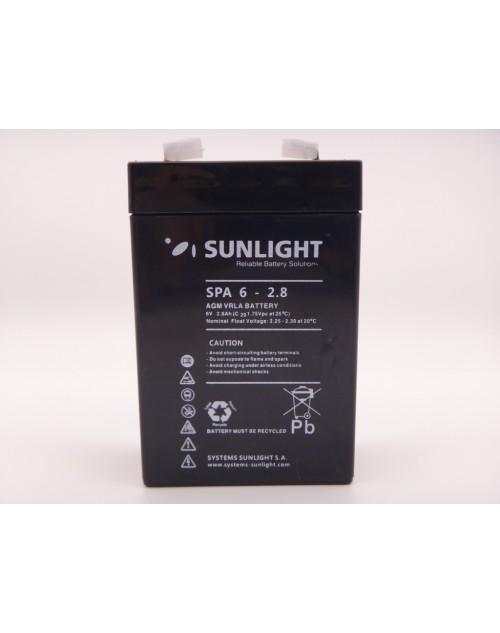 Sunlight 6V 2.8Ah baterie AGM VRLA SPA 6-2.8