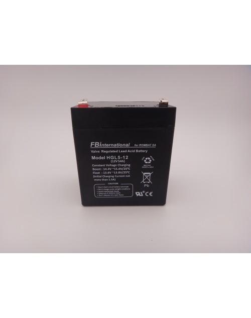 Acumulator 12V 5Ah VRLA, AGM, UPS, alarma FBinternational for ROMBAT