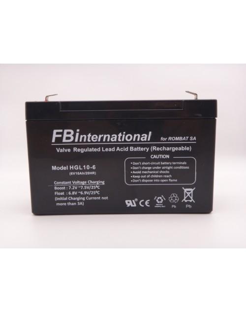 Acumulator 6V 10Ah 151 x 50 x 95mm VRLA, AGM FBinternational for ROMBAT