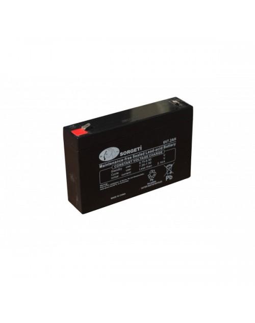 Acumulator stationar VRLA / AGM 6V - 7,2Ah SORGETI