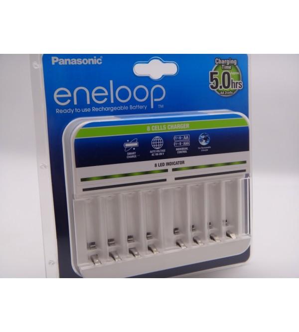 Incarcator Ni-Mh Panasonic Eneloop BQ-CC63E cu 8 canale de incarcare fara acumulatori