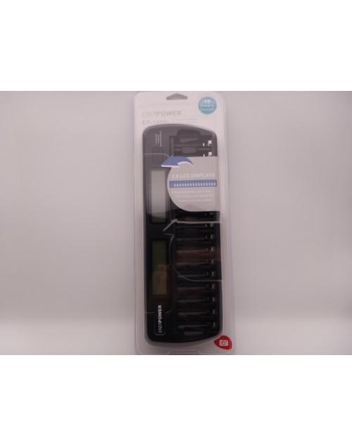 Incarcator inteligent ENERPOWER EP-1600L pentru 16 acumulatori AA si AAA cu LCD Display