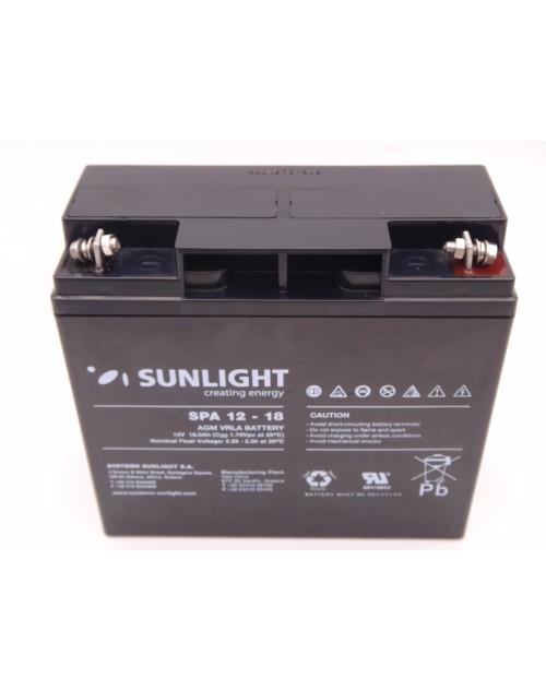 Sunlight 12V 18Ah acumulator AGM VRLA SPA 12-18