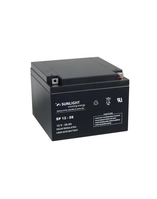Sunlight 12V 26Ah acumulator AGM VRLA SPA 12-26