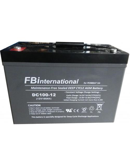 Acumulator 12V 100Ah 307x169x211mm VRLA, AGM FBinternational for ROMBAT Dc100-12
