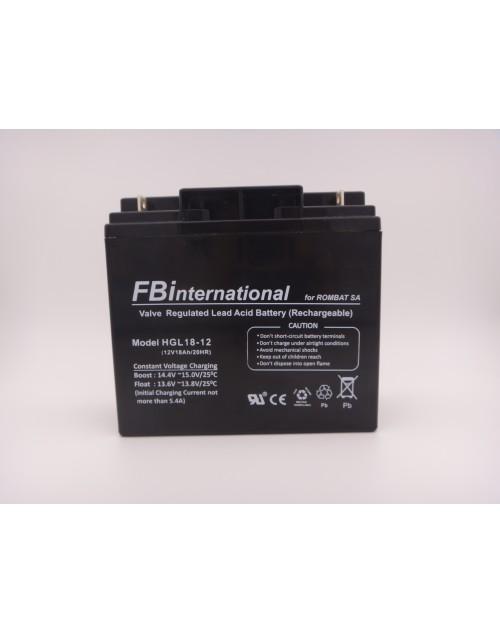 Acumulator 12V 18Ah pentru UPS, alarma, VRLA, AGM FBinternational for ROMBAT